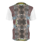 street flight all over print long sleeve t-shirt with miami one-seven 3 graphic-rear view