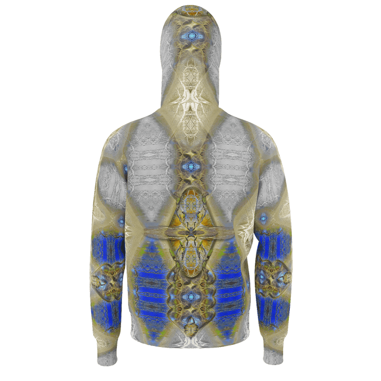 street flight all over print hoodie with my alchemical romance 1 graphic-rear view