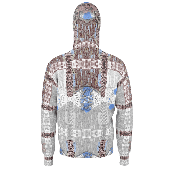 street flight all over print hoodie with miami one-seven 1 graphic-rear view