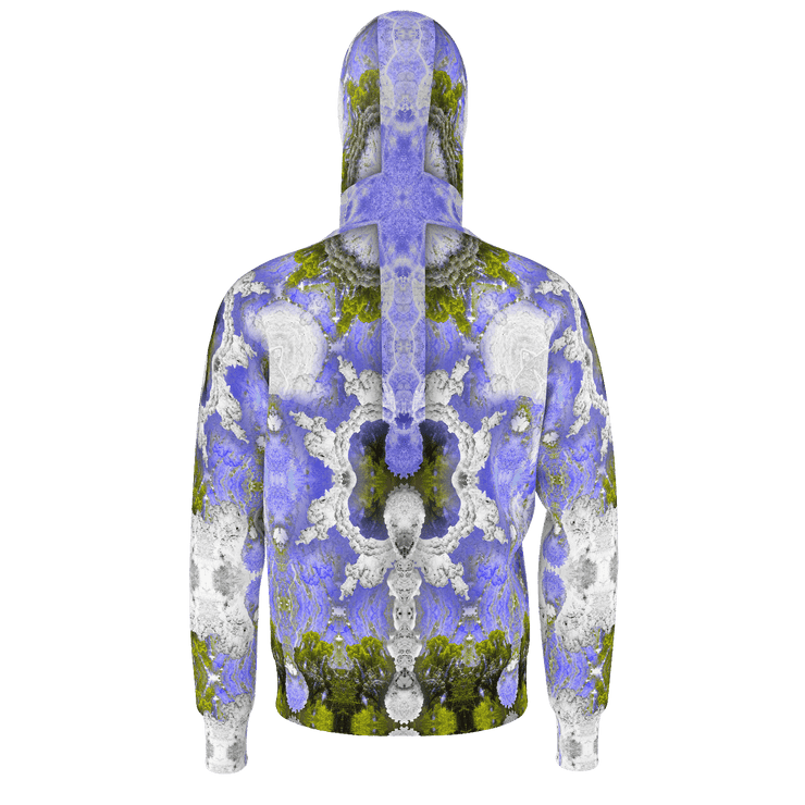 street flight all over print hoodie with my alchemical romance 2 graphic-rear view