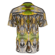 street flight all over print short sleeve t-shirt with my alchemical romance 3 graphic-rear view