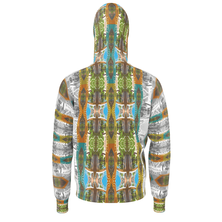 street flight all over print hoodie with miami one-seven 2 graphic-rear view