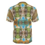 street flight all over print short sleeve t-shirt with miami one-seven 2 graphic-rear view