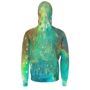 street flight all over print hoodie with brilliant things II graphic-rear view