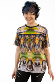 street flight all over print short sleeve t-shirt with my alchemical romance 3 graphic-front view