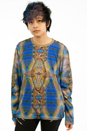 street flight all over print long sleeve t-shirt with my alchemical romance 1 graphic-front view