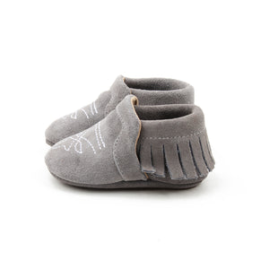 Bar 11 Couture Gray Suede Boot Mocc - Rural Raised Couture