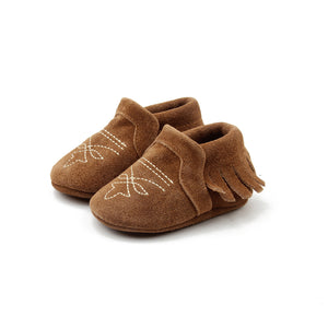 Bar 11 Couture Brown Suede Boot Mocc - Rural Raised Couture