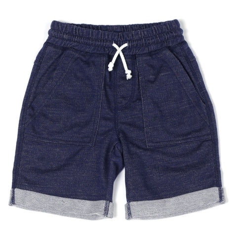 Indigo Denim Roll Up Short - Rural Raised Couture