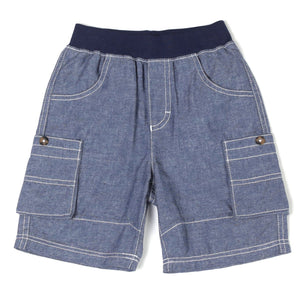Navy Chambry Cargo Short - Rural Raised Couture