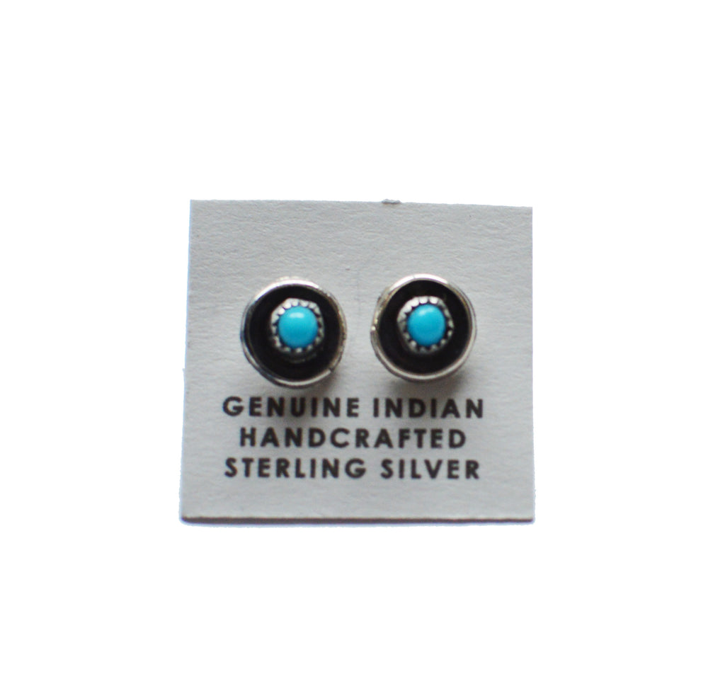 Circle Turquoise Studs - Rural Raised Couture