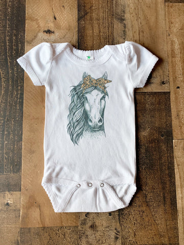 Cattin' Around Horse Tee-Onesie