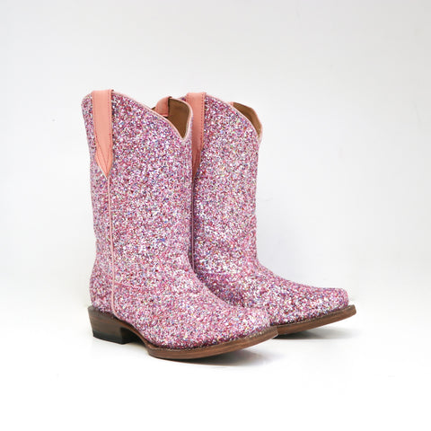 Mermaid Sparkle Boot-Pink