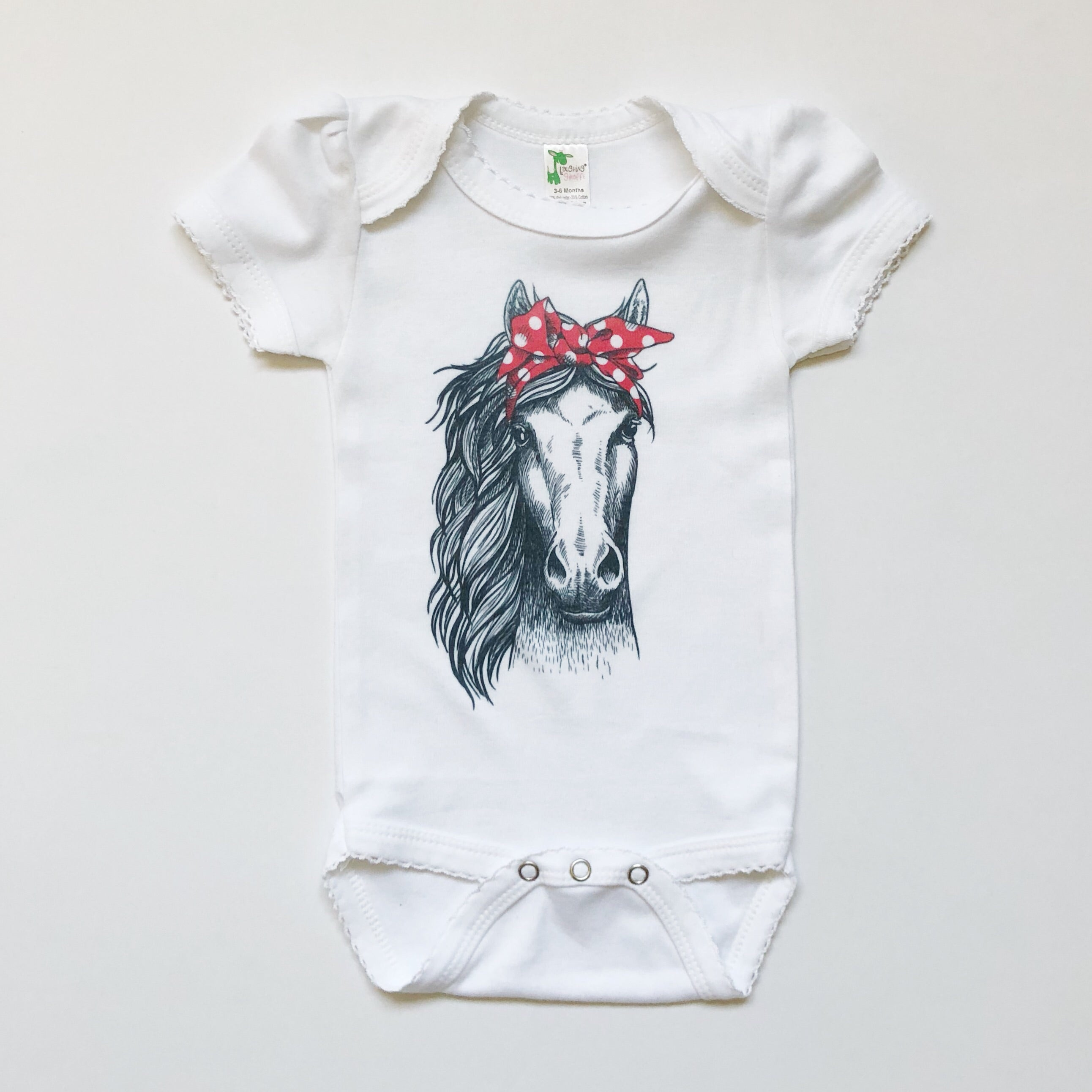 Horse with Bandana Bodysuit - Rural Raised Couture