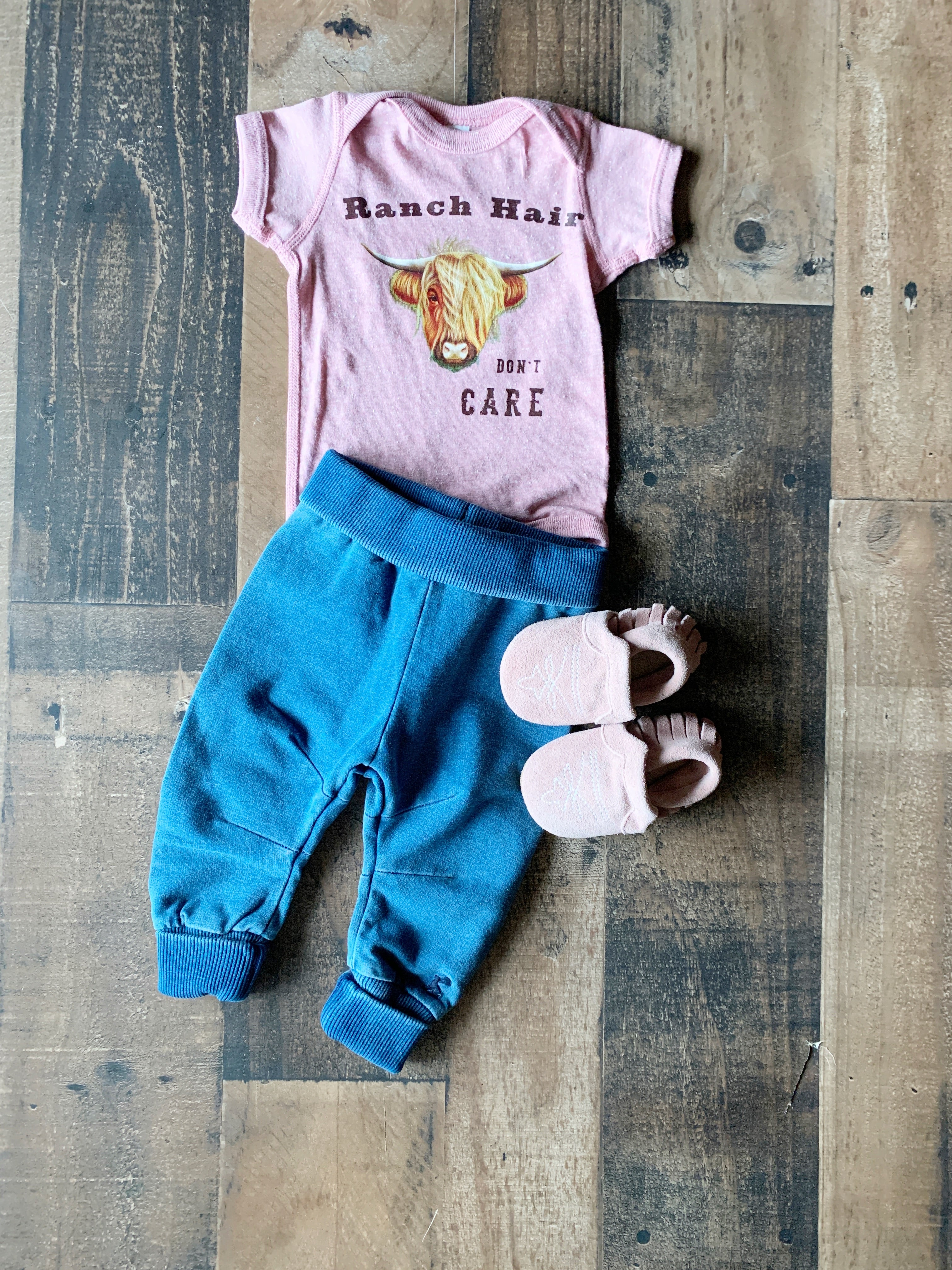 Ranch Hair Don't Care Onesie