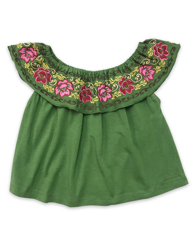 Floral Cold Shoulder Top - Rural Raised Couture