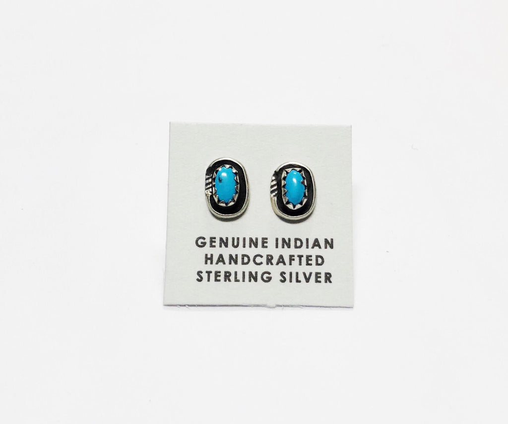 Oval Turquoise Studs - Rural Raised Couture