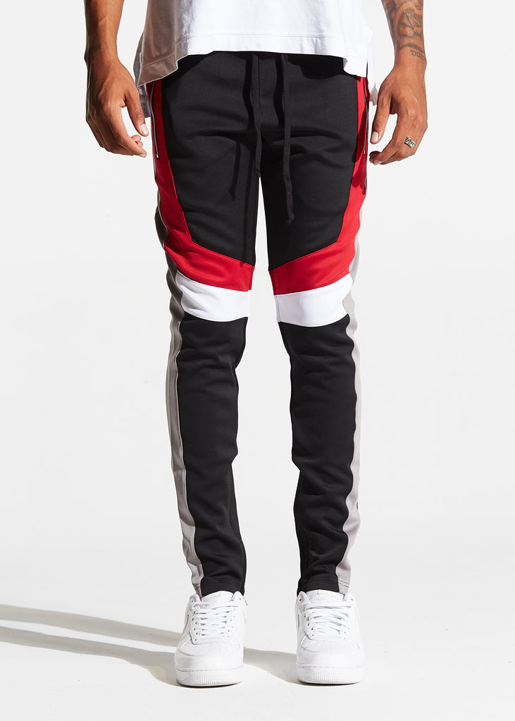 Pym Track Pants (Black/Red Multi)