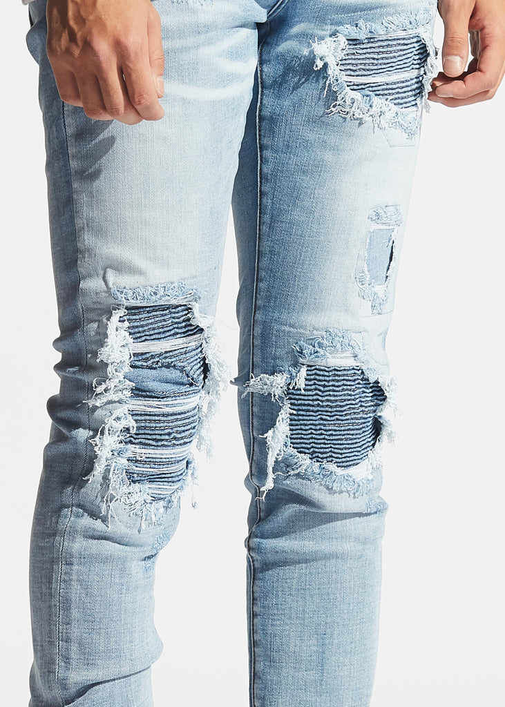 Sculptor Biker Denim (Light Blue)