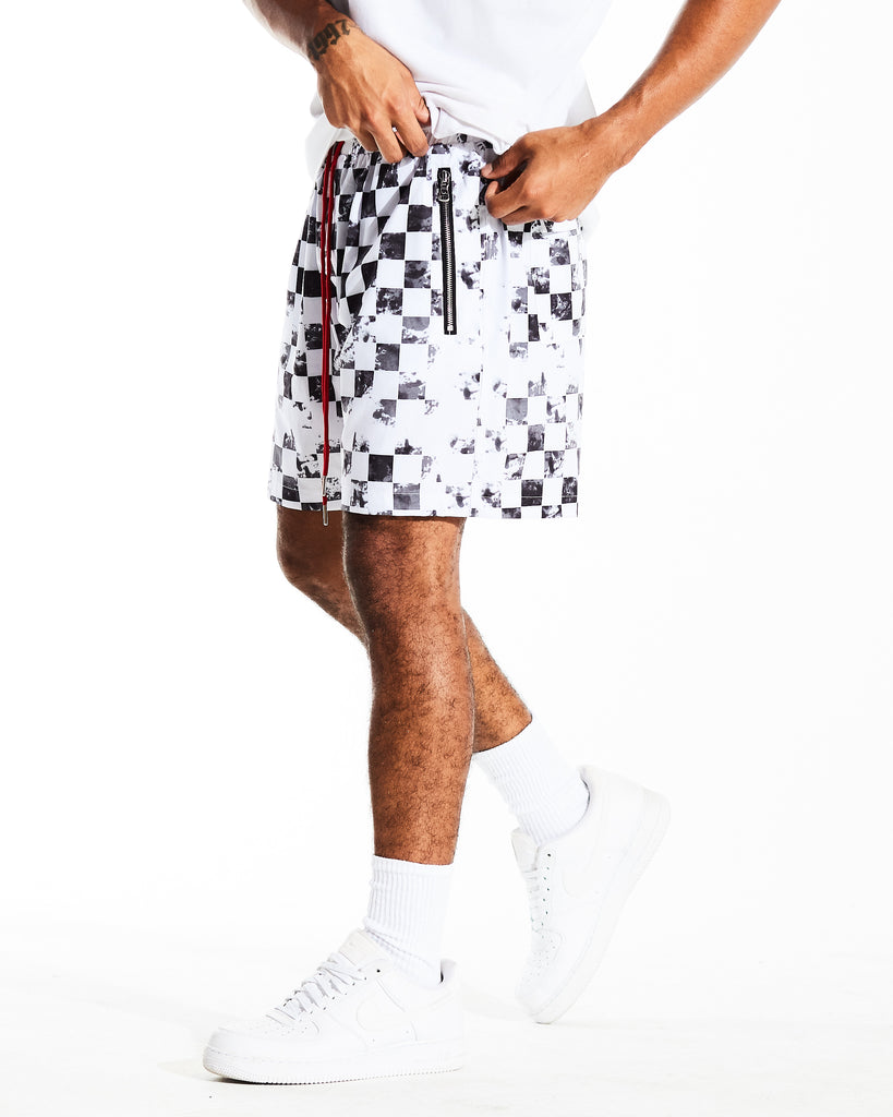 Ocean Shorts Checkered (Black/Grey)