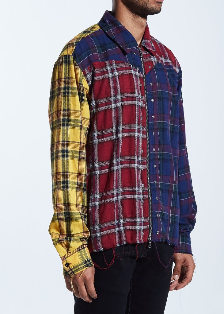Disick Plaid Button Up (Multi)
