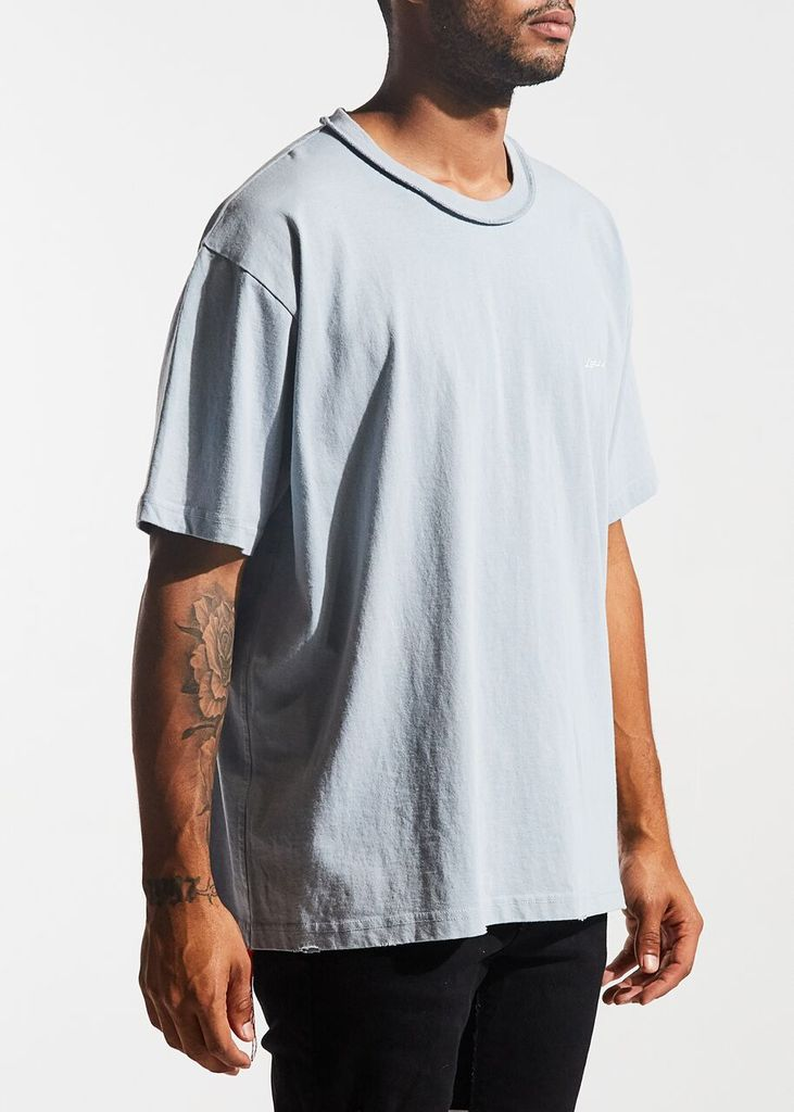 Lifted Logo Tee (Dusty Blue)