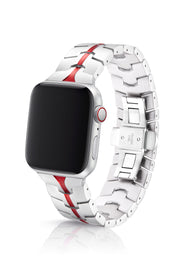 JUUK 40mm Vitero Ruby Silver Premium Aluminum Apple Watch Band