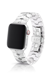JUUK 40mm Vitero Silver Premium Aluminum Apple Watch Band