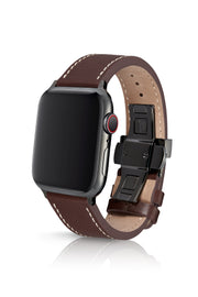 JUUK 40mm Korza Cacao Premium Italian Leather Apple Watch Band