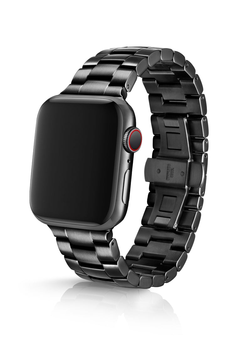 JUUK 44mm Velo Polished Black Premium Stainless Steel Apple Watch Band