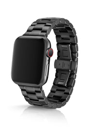 JUUK 44mm Velo Brushed Black Premium Stainless Steel Apple Watch Band