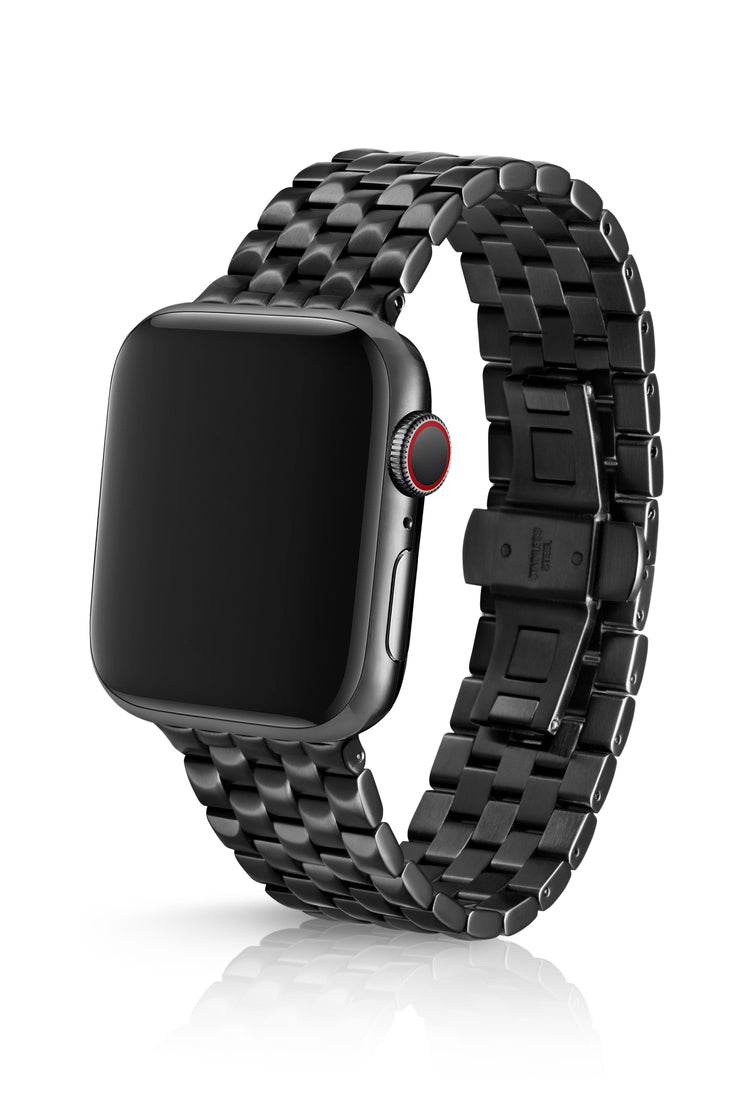 JUUK 44mm Locarno Brushed Black Premium Stainless Steel Apple Watch Band