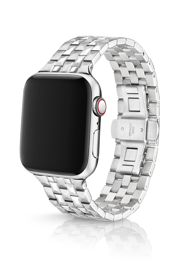 JUUK 44mm Locarno Brushed/Polished Premium Stainless Steel Apple Watch Band