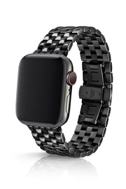 JUUK 44mm Locarno Polished Black Premium Stainless Steel Apple Watch Band