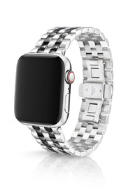 JUUK 44mm Locarno Polished Two-Tone Black Premium Stainless Steel Apple Watch Band