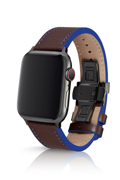 JUUK 44mm Korza Umber Premium Italian Leather Apple Watch Band