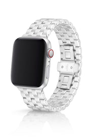 JUUK 44mm Qrono Silver Premium Aluminum Apple Watch Band