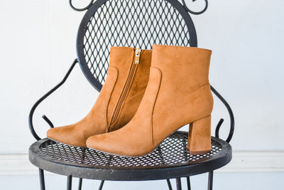 The Cairo camel suede bootie