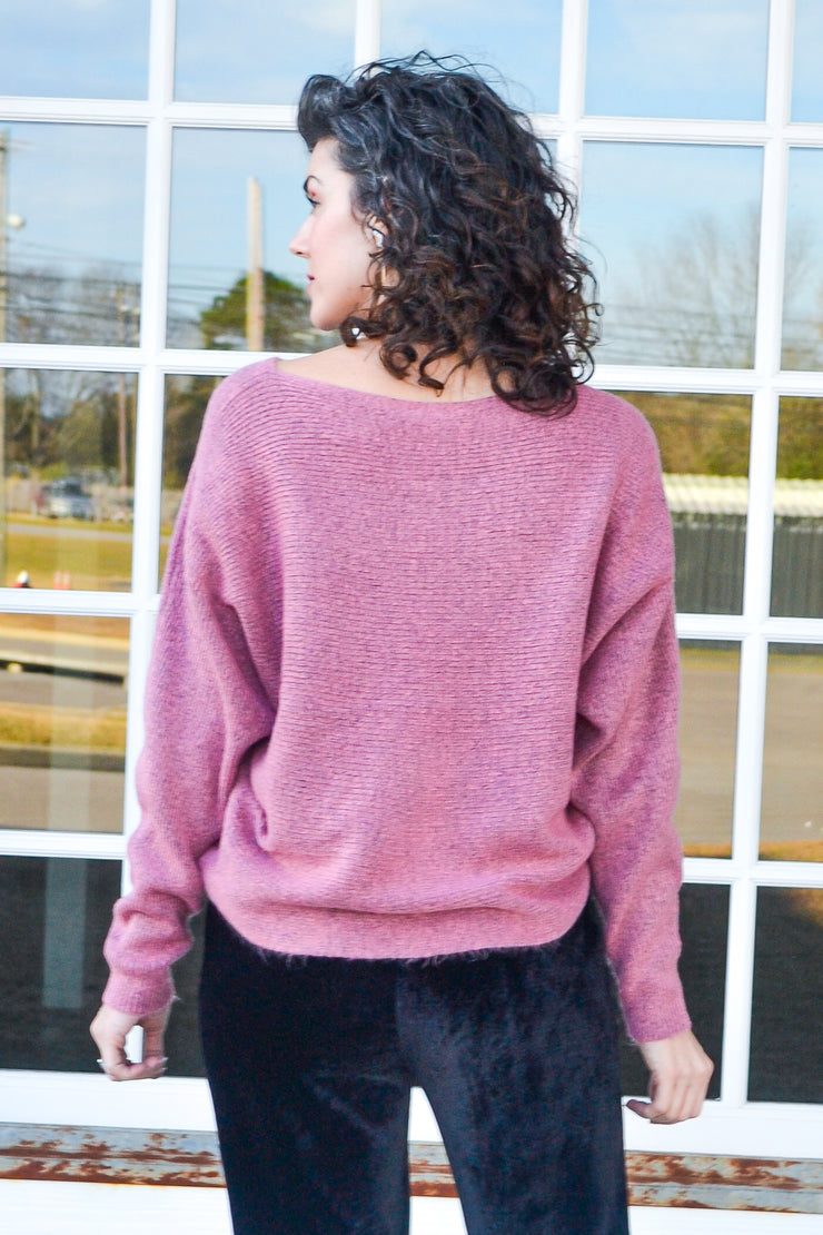 When in Rome sweater - mauve