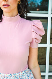 Make Me Blush Puff Sleeve Bodysuit