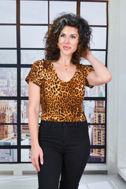 Catch Me If You Can bodysuit - leopard