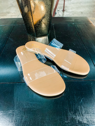 Clear State of Mind clear strap sandals