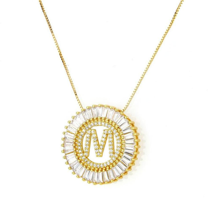 Radiant Initial Necklace