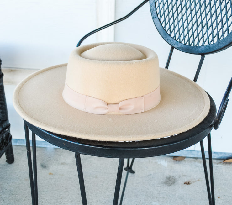 The Classic Boater hat - ivory