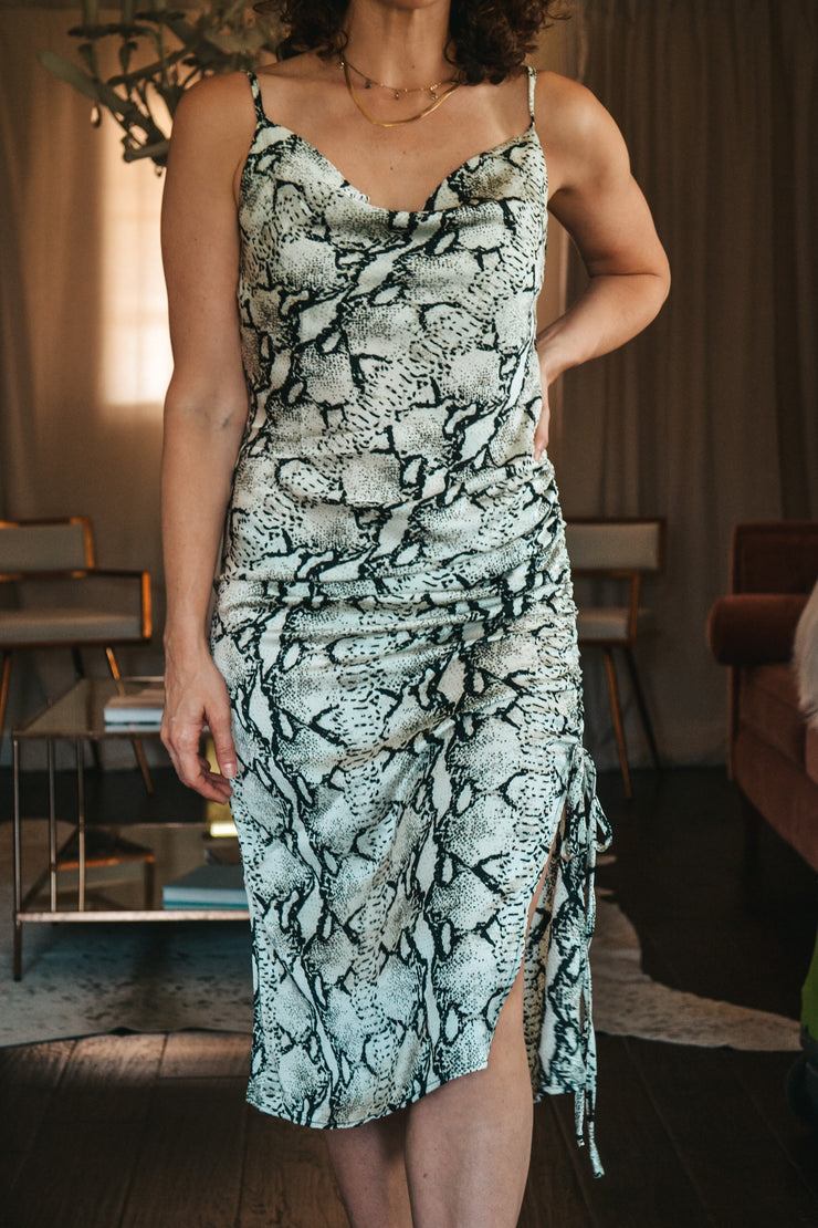 Depends On My Mood snake print dress