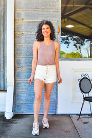Always Relevant soft knit tank - dusty blush