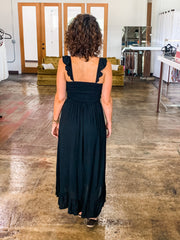 Sunset In Tuscany maxi dress- Black