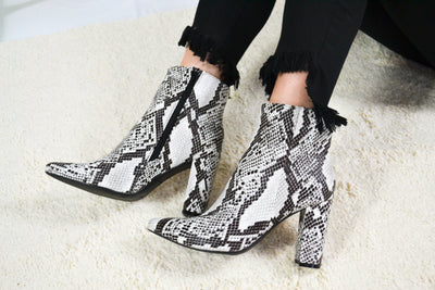 The Eden Snake Booties-Black