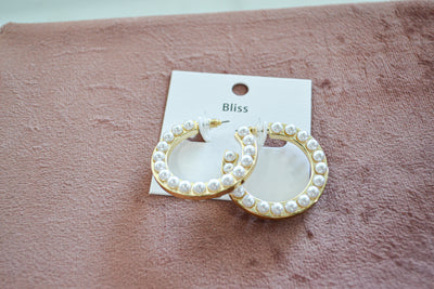 Double Sided Pearl Hoops