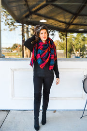 Cozy Up scarf - red plaid